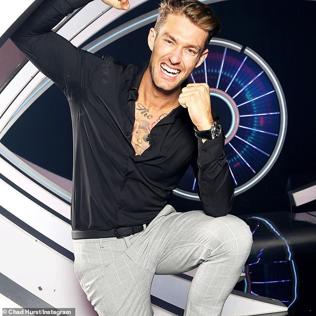 """Ecstatic: Chad won the cash prize of $ 234,656 after winning Big Brother last year.  On stage, Chad couldn't hide his shock when he exclaimed """"F ** k!  On live television."""