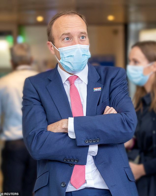 People need to know the loved ones they leave behind won't lose all their savings if they end up with dementia and having to pay expensive care home fees. Pictured: Health Secretary Matt Hancock, who is believed to be attending a meeting on social care on Tuesday