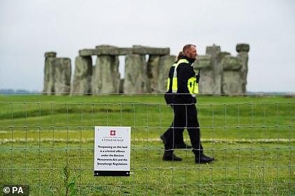Security patrol the area around Stonehenge