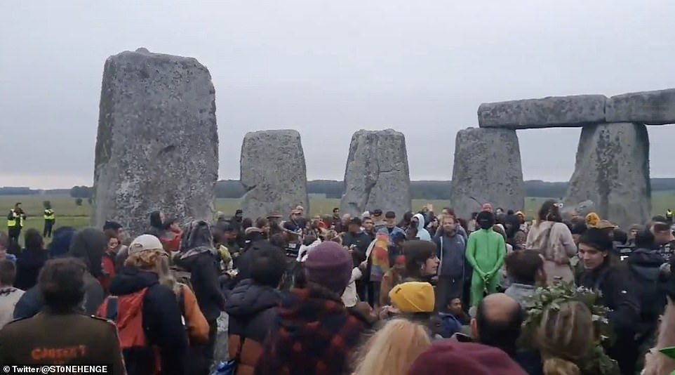 Police dispersed a gathering of druids and sun-worshippers at Stonehenge early this morning as crowds defied coronavirus restrictions to celebrate the Summer Solstice at the ancient Wiltshire monument