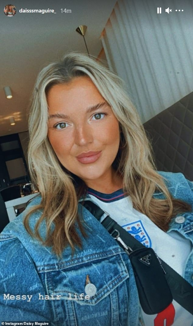 And it wasn't just partners who showed their support, with Harry Maguire's sister Daisy posting several selfies wearing her England squad shirt