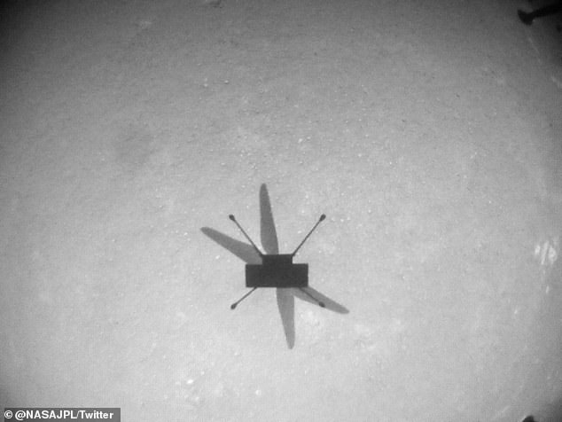 The 4-pound helicopter arrived on Mars in February in conjunction with the Perseverance rover