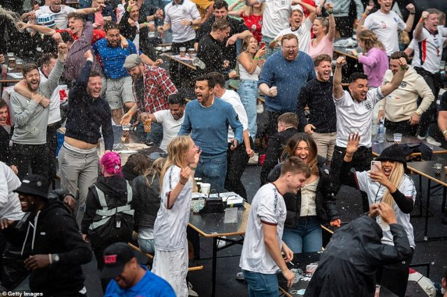 It was wild celebrations at Box Park in Croydon when Raheem Sterling put England ahead in their Euro 2020 clash with Czech Republic