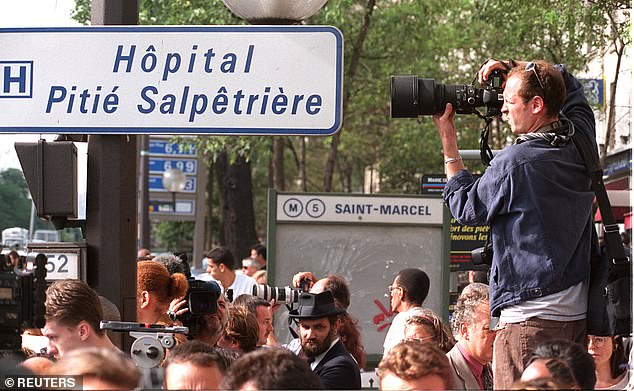 Scrum: Photographers at the hospital on August 31, 1997, following Princess Diana's death