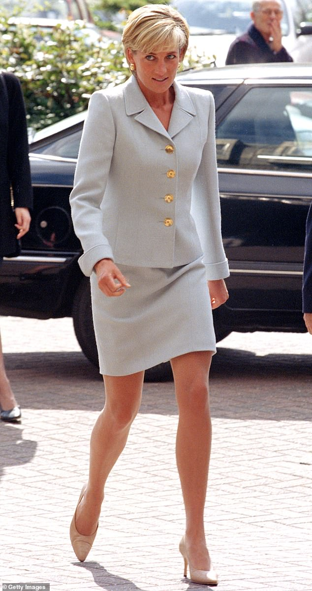 Iconic: Diana, the Princess of Wales (pictured visiting the Royal Brompton Hospital in London), was loved worldwide