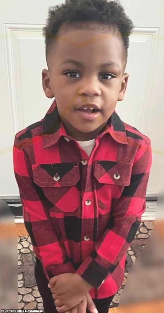 Brison Christian, two, was shot and killed while sitting in his car seat as his dad drove along Interstate 75 in Detroit last Thursday