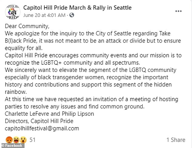LeFevre and Lipson said the complaint was not meant to divide, but to ensure equality