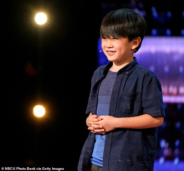Young magician:Nine-year-old magician Shoji also impressed the judges with his up-close coin and card tricks