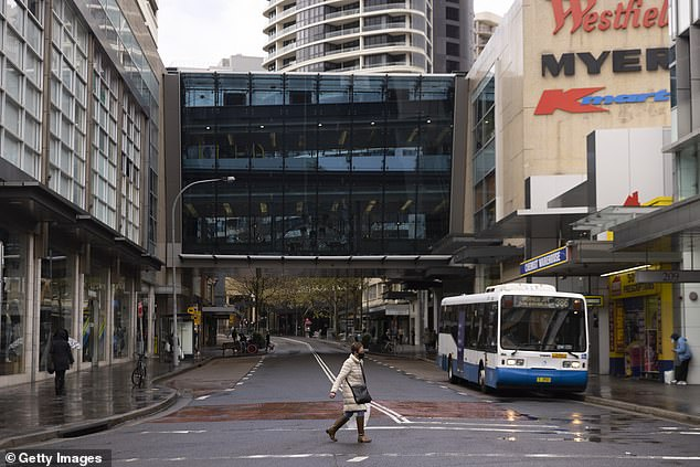 Eight of the 13 new cases announced on Wednesday are linked to a birthday party is Sydney's west that was attended by an unknowingly infectious Bondi Junction (pictured) worker