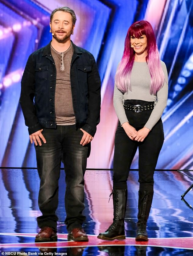 Danger prank:Simon recruited danger act Ryan Stock and AmberLynn who previously performed during season 11 of AGT
