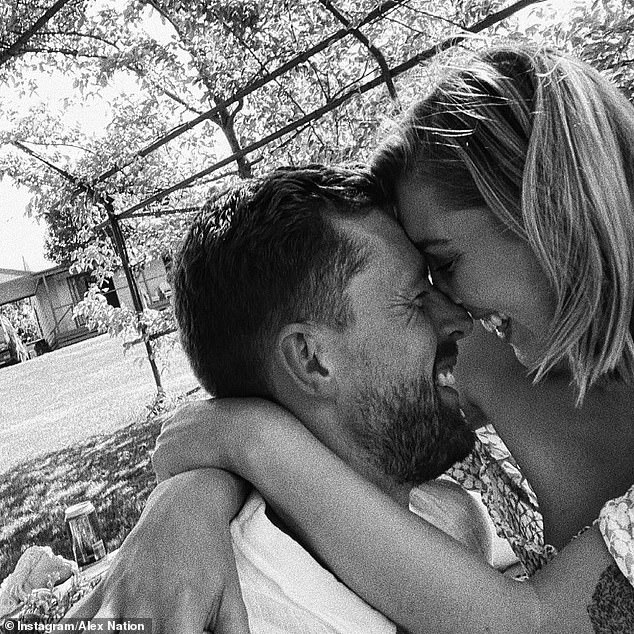 New love:In December last year, Alex debuted her romance with tradesman Carson