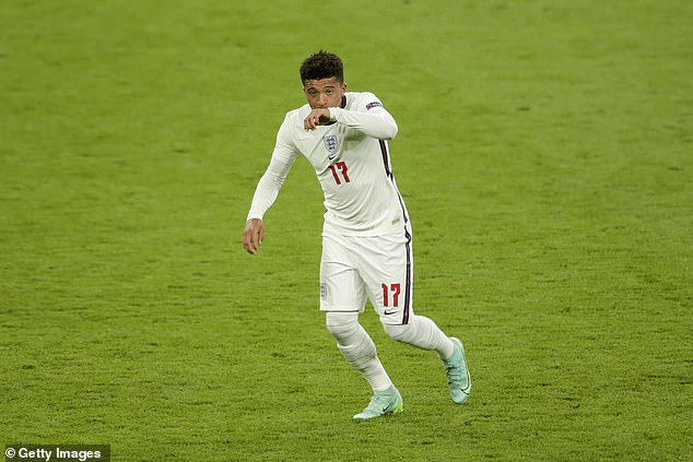 Sancho started on the bench for the Three Lions again, and was brought on after 84 minutes