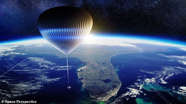 Tickets for Space Perspective's 'cruises' to the stratosphere went on sale Wednesday for $125,000.The firm is using giant 'spaceballoons' to take up to eight guests into the stratosphere for a trip that lasts six hours