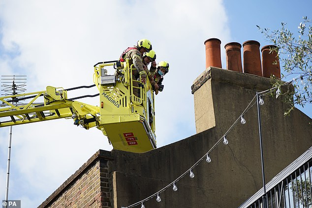 The fire, which broke out at around 12.15pm, is said to have started in an extraction system from the first floor to the roof vent