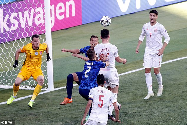Dubravka could not get back into his goal in time when Aymeric Laporte headed in the corner