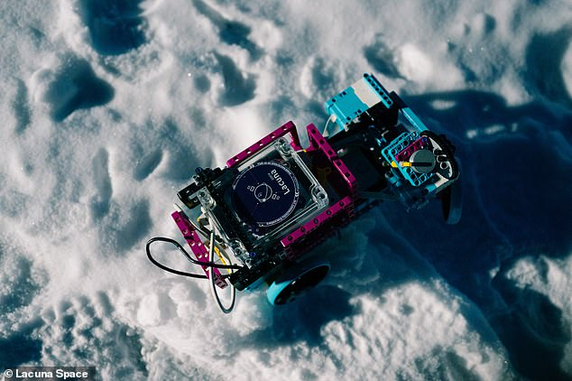 This is a small rover in Greenland with a Lacuna Space sensor on board that can send data back to the base station from space via the new satellites