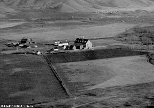 Marieval Mission, Cowesses Indian Residential School in Elcapo Creek Valley, Saskatchewan, pictured in 1923