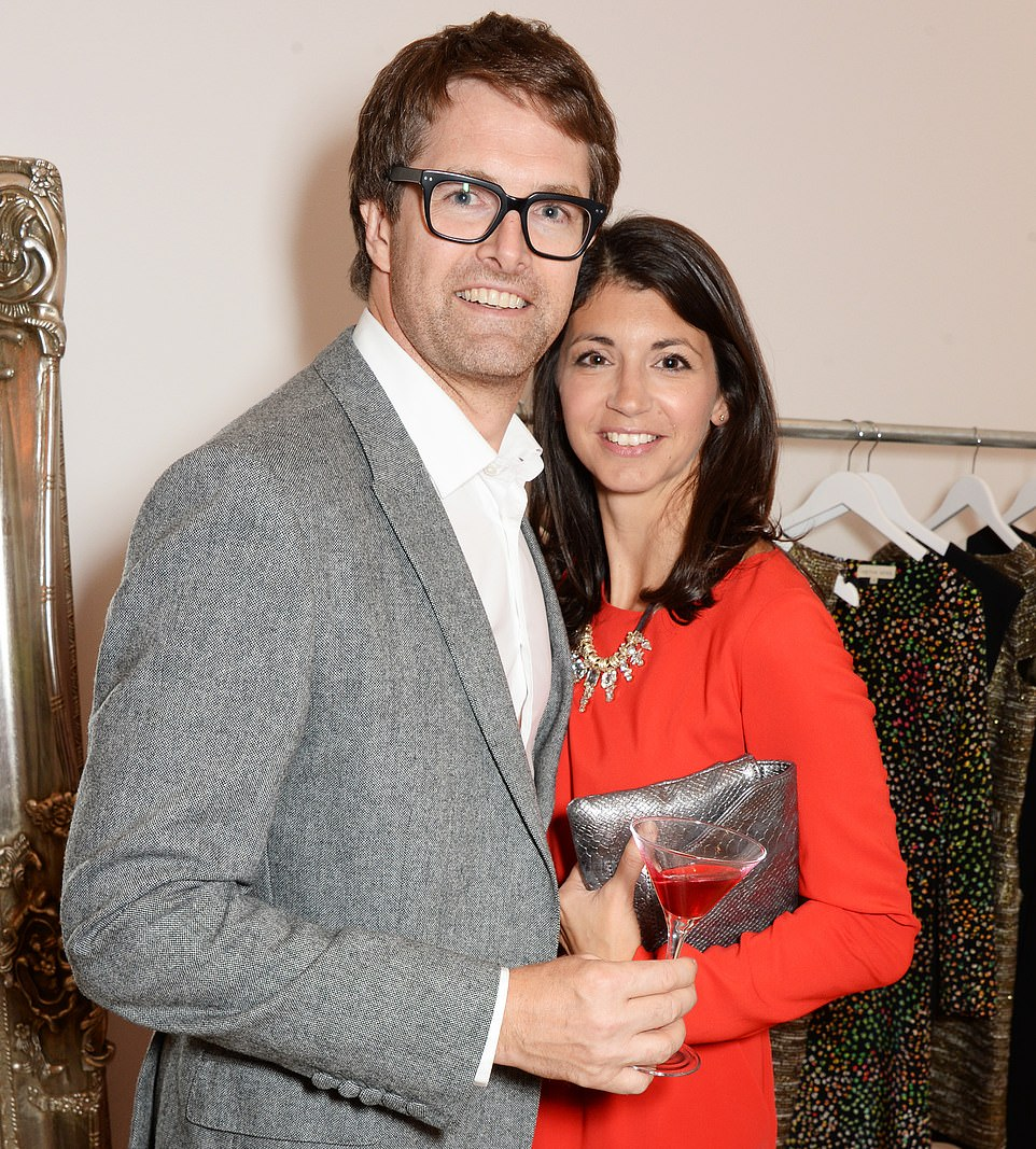 Gina Coladangelo works as communications director for Oliver Bonas which was founded by her husband Oliver Tress (pictured together in London's Belgravia in 2014) - while also being Health Secretary Matt Hancock's closest aide