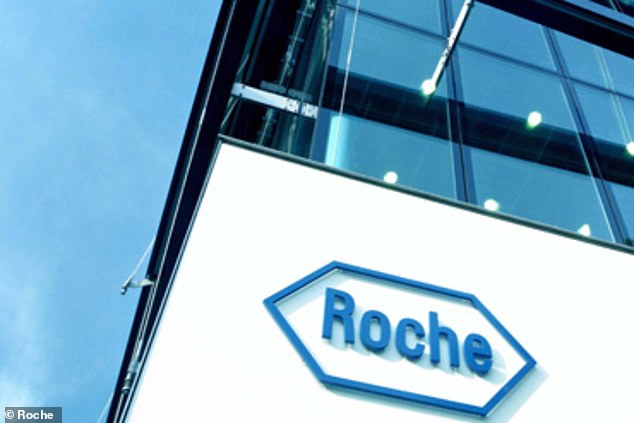 It will be given to hospitalized patients who are already receiving steroid drugs, oxygen and other measures to fight the virus. Pictured: Roche headquarters in Basel, Switzerland