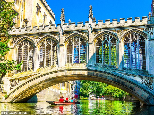 Romantic: Gliding across the River Cam on a chauffeured punt tour