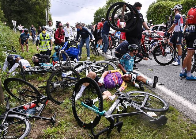 The crash has been labelled as one of the worst ever in the history of the Tour de France, which is in its 108th instalment