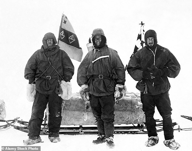 Ernest Shackleton, Captain Robert Falcon Scott and Dr Edward Wilson on the British National Antarctic Expedition 1901-1904 (Discovery-Expedition)