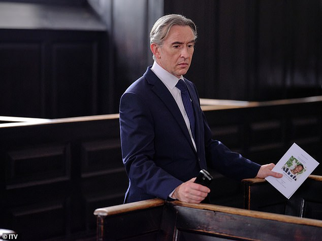 New show:ITV also confirmed several other new shows coming to its Autumn schedule on Thursday, including drama Stephen (pictured Steve Coogan in a first look snap)