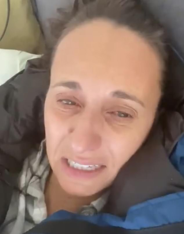 Danya Grant posted a tearful Twitter video thanking fans. she sobbed: 'Oh my God, I look terrible!'