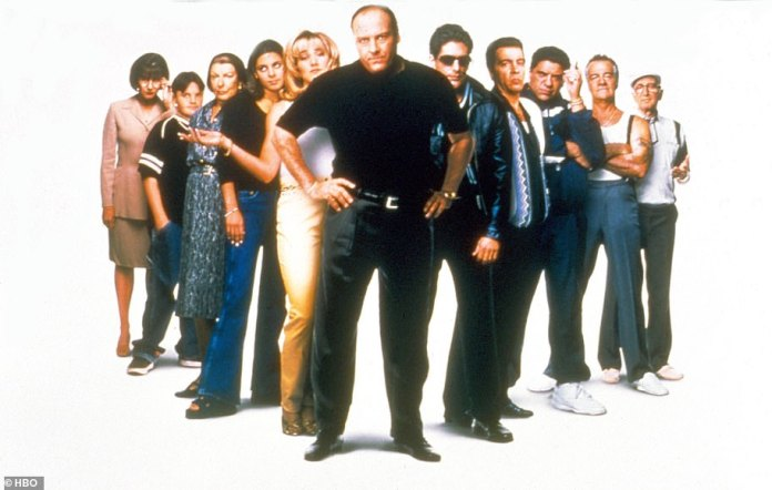 Iconic:The Sopranos first aired 22 years ago this January, before wrapping up 86 episodes and six seasons later, in 2007; the entire cast pictured in 1999
