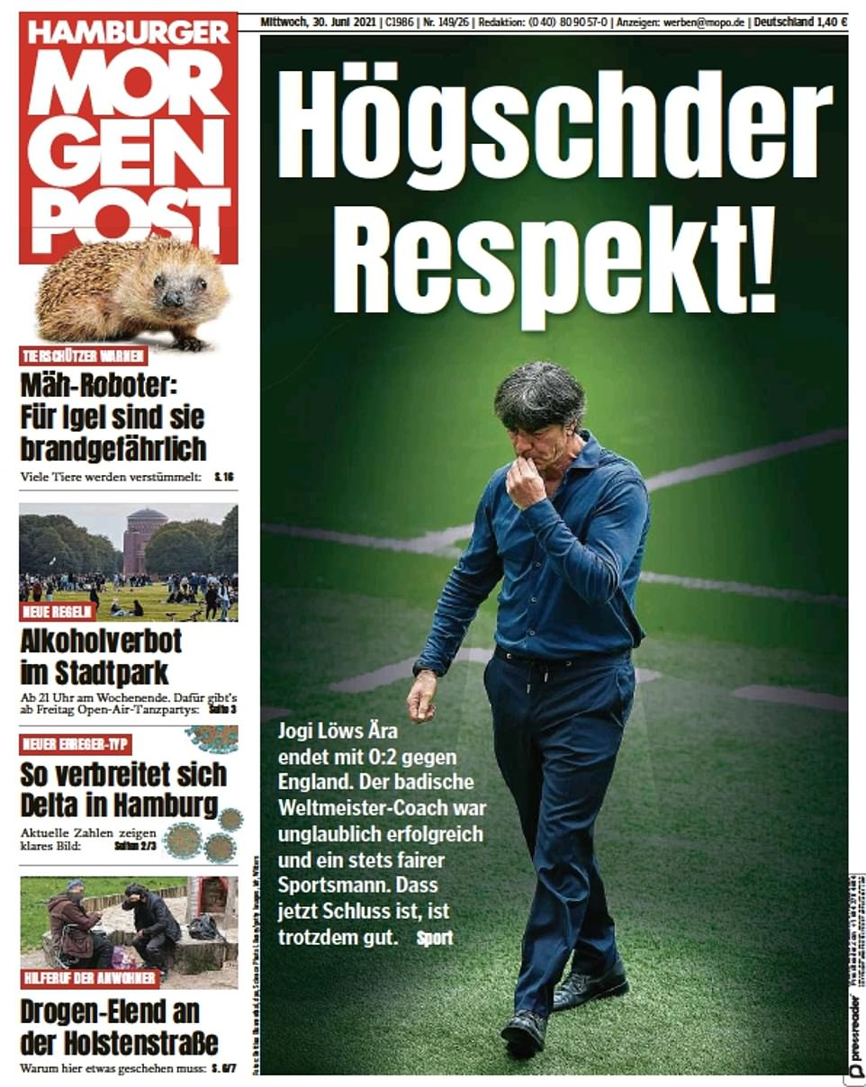 Hamburger Morgenpost paid 'huge respect' to Low despite bowing out against England