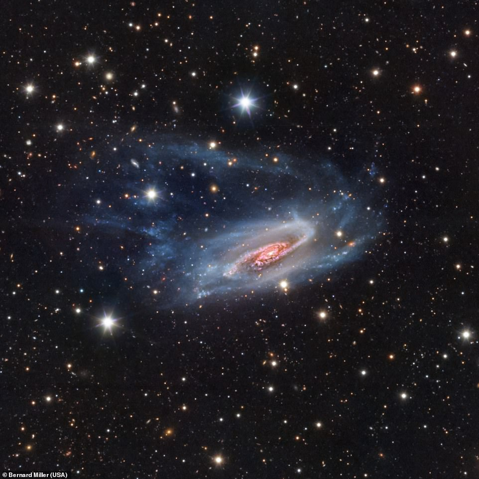 is an unbarred spiral galaxy 62 million light years away and is seen in its full beauty in this image captured from Earth by Bernard Miller