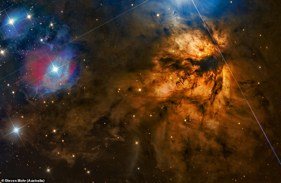 NGC 2024 also known the Flame Nebula for its bright orange glow was captured in this image by Steven Mohr of Australia