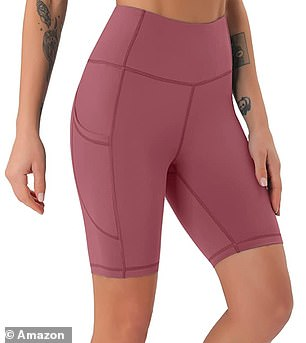 The shorts come in eight different colors and patterns, and sizes range from six to 18