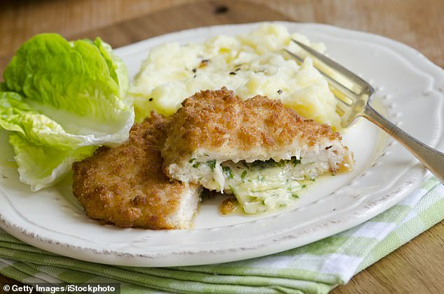 The chicken kiev, a much loved dish in Britain that has no link to Ukraine other than the name