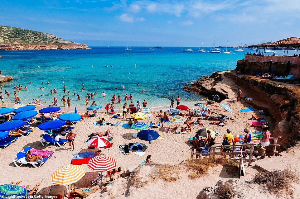 The cost of heading to Ibiza (pictured), Majorca, Menorca and Malta surged by up to 200 per cent after they were added to the quarantine free areas