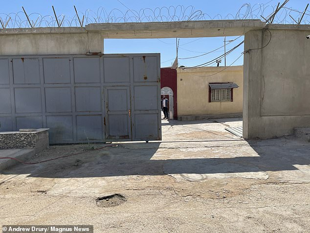 Life now for Abdullah consists of nine hours a day locked up in the Kurdish-run Hori Centre Boys Prison in northern Syria (pictured)