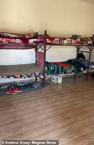 Bunk beds for the boys detained at the centre