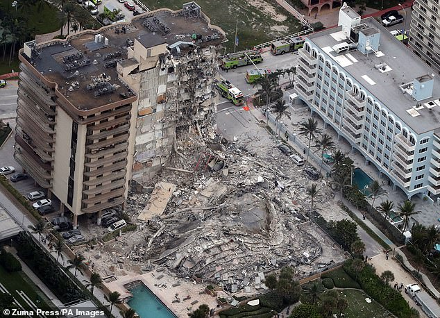 At least 12 people have been confirmed dead after the collapse of Champlain Towers South in Surfside, Florida, with 149 still unaccounted for