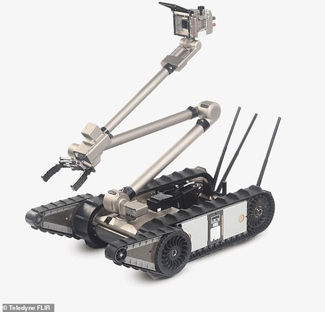 PackBot 510 climbs stairs and navigates narrow passages, relaying real-time video, audio and sensor data to a human operator safely offsite. It can also lift objects weighing less than 44 pounds