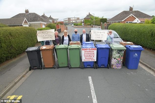 Residents in Cleethorpes, North East Lincolnshire, staged a protest on Monday after they claimed motorists had continuously used their quiet cul-de-sac for parking