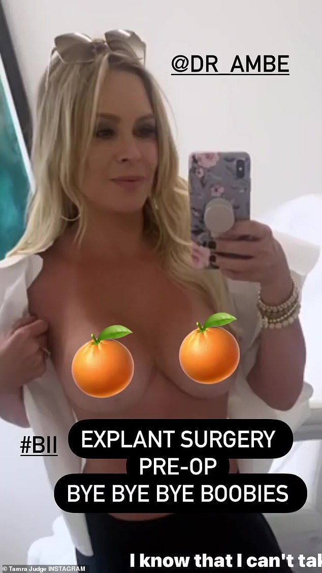 Bye bye: Judge revealed her decision via Instagram Story last week where she expressed that she is 'tired of being tired and inflamed' before sharing a topless shot from the doctor's office.