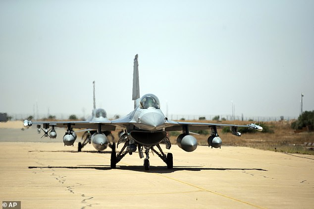 (File image) The F-16 fighter had an incident during take-off which forced the pilot to eject before crashing