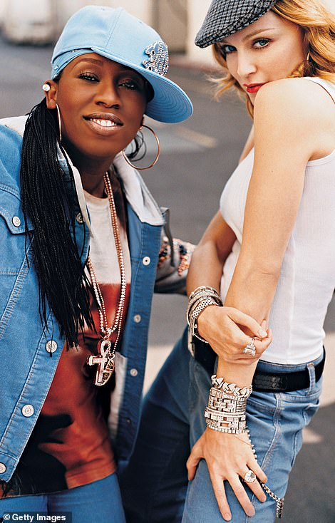 US cool:At its peak, Gap bagged A-listers like Madonna, Missy Elliott (pictured in 2004) and Sarah Jessica Parker for its award-winning advertising campaigns and its signature sweatshirts were a must-have for teens around the world. Sharon Stone even wore Gap at the Oscars