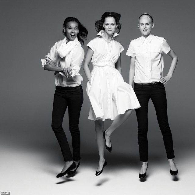 Big name collaborations: Liya Kebede, Carmen Kass and Stella Tennant in Gap's white shirt ranged, designed by Door.Ri in 2007. Stylist Lucas Armitage noted that even the celebrity collaborations haven't been enough to save gap