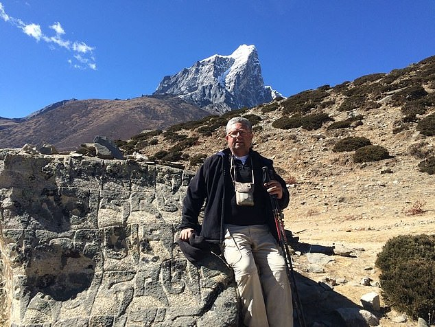 Amateur adventurer Sheldon Marshal, 64, fell from a horse on his way to Everest Base camp - around halfway up the world's tallest mountain