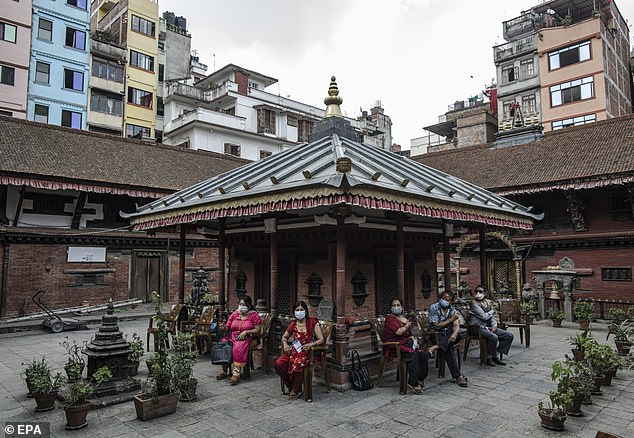 When James said he returned to Kathmandu (pictured: Library image) on 17 November, he learned medical teams had said Mr Marshall could not make the commercial flight home even with the accompaniment of a paramedic