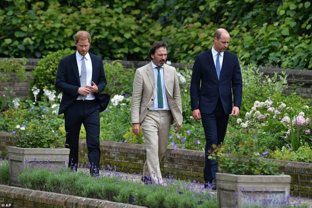 The body language expert revealed Prince Harry was 'not as comfortable as he was trying to appear' at the event today