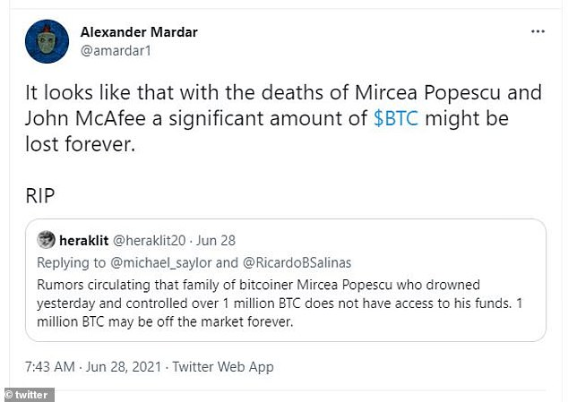Rumors have swirled that his bitcoin fortune might be lost forever