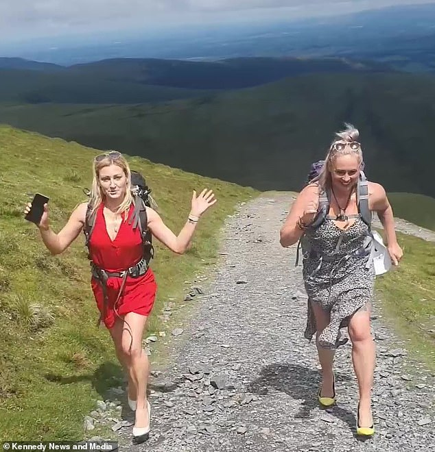 Fellow hikers warned against trying to tackle mountains in high heels and mountain safety guidance stresses the importance of appropriate footwear