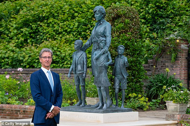 The statue of Princess Diana was created by renowned artist Ian Rank-Broadley (pictured), whose image of the Queen has appeared on all coins in the UK and Commonwealth since 1998